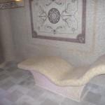 garinės pirties gultas