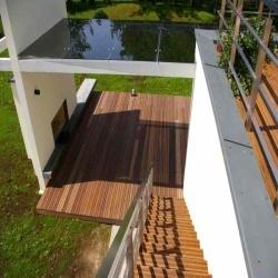Egzotinė mediena laiptams ir terasoms